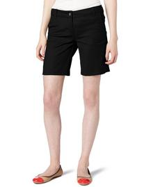 "Dickies Girl Juniors 8"" Inseam 4 Pocket Short,Black,3"