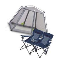 Ozark Trail 10' x 10' Instant Screen Canopy with 2 Chairs