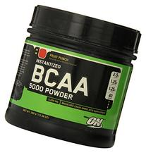Optimum Nutrition BCAA 5000mg Powder, Fruit Punch, 40