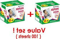 Fujifilm Instax Mini Instant Film, 10 Sheets of 5 Pack × 2
