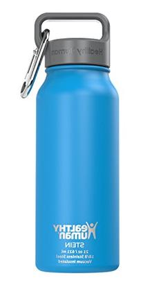 Healthy Human 16 oz Water Bottle - Cold 24 Hrs, Hot 12 Hrs.