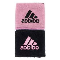 adidas Interval Reversible Wristband, Black/Gala Pink / Gala