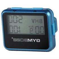 Gymboss Interval Timer and Stopwatch - TEAL / BLUE METALLIC