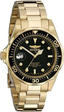 Invicta Men's 'Pro Diver' Quartz 23k-Yellow-Gold-Plated-