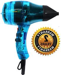 Professional Ionic Hair Dryer Handcrafted in France for Europe's Finest Salons, Featherweight, Dual Ion Generator Function Builds Shine & Volume
