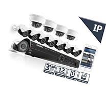 LaView 3MP IP 12 Camera Security System, 16 Channel IP PoE