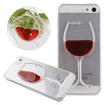 iPhone 5S Case,UZZO Red Wine Glass Shape Case for iPhone 5/