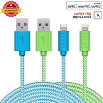 iPhone 5S Charger, 2 Pack 10Ft Long, F-color iPhone 6S