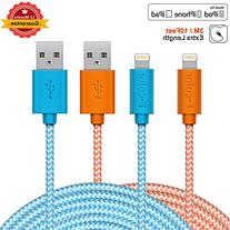 iPhone 6 Charger, 10Ft 2 Pack iPhone 6S Charger F-color Long