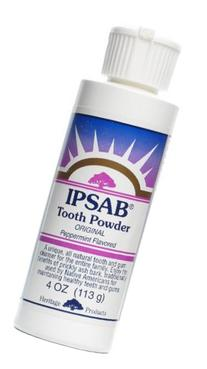Ipsab Tooth Powder, Peppermint Flavored, 4 oz  by Heritage