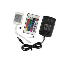 B2ocled 24 Key IR Remote Controller Wireless DC 12V 2A Power