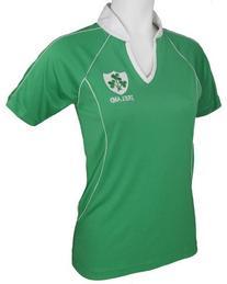 Ladies Irish Rugby Shirt, Green, Small
