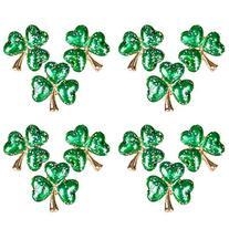 "Irish Saint Patricks Day 1"" Glitter Shamrock Pins Party"