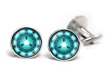 Iron Man Arc Reactor Cufflinks, Avengers Iron Man Jewelry,