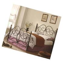 Iron Headboard and Footboard with Scroll Details for Queen