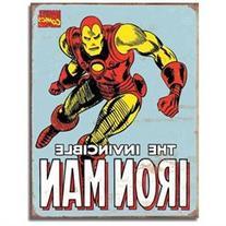 Iron Man Retro Tin Sign, 12x16 TSN1650 TIN SIGNS