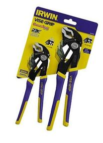 "Irwin 2078709 Vise-Grip 2-Piece Groovelock Pliers Set 8"" and"