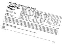 Isagenix IsaLean Bars Lemon Passion Crunch 10ct, 2.29oz