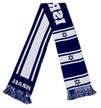 International Soccer Israel Jacquard Knit Scarf, One Size,