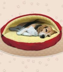 Its A Dogs World Sleep Like Heaven Plush Cave Bed