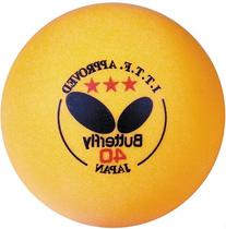 Butterfly B3Y640C ITTF Approved 3-Star 40mm Table Tennis