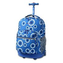 J World New York Sunrise Rolling Backpack, Blue Target, One