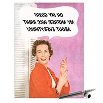 J0100 Jumbo Funny Mother's Day Card: Mother Was Right With