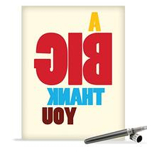 J9689 Jumbo Funny Thank You Card: Big Thank You With