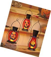 Jack-O'-Lantern Candle Lamps Set of 3