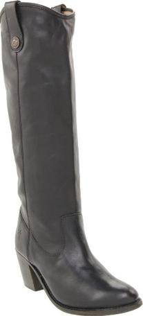 FRYE Women's Jackie Button Short Boot, Black, 7.5 M US