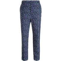 Bottega Veneta - jacquard cropped trousers - women - Cotton/