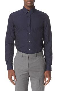 Men's Paul Smith Jacquard Shirt, Size 16 - Blue