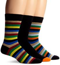 Ben Sherman Men's 3 Pack James Crew Sock, Multi, One Size