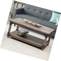Belham Living Jamestown Rustic Coffee Table with Unique