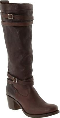 FRYE Women's Jane Strappy Boot, Dark Brown, 7.5 M US