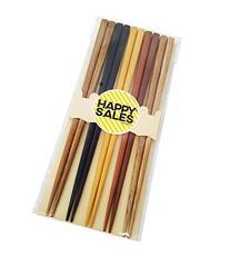 5pcs Japanese Bamboo Chopsticks Gift Set Multi Color Design