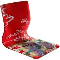 Oriental Furniture Tatami Meditation Backrest Chair - Red