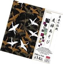 """Japanese Heritage """"Yuzen Play"""" Pattern Paper with Colored"""