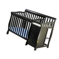 Jayden 4-in-1 Mini Convertible 2 Piece Crib Set, Black