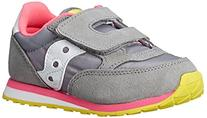 Saucony Jazz Hook and Loop Sneaker ,Grey/Pink,5 M US Toddler