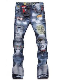 TRURENDI Fashion Mens Jeans Torn Jeans Patched Holey Washed