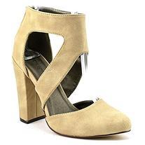 Michael Antonio Women's Jeneil Dress Sandal,Natural,7 M US