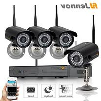 Jennov 4 Channel 720P Wireless Security IP Camera System