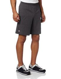 Champion Men's Jersey Short With Pockets, Navy, Large