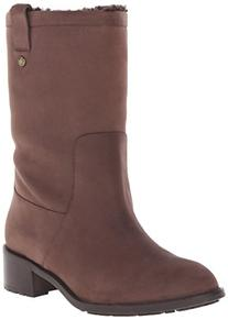 Cole Haan Women's Jessup WP Boot, Chestnut Leather/Shearling