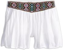 Ella Moss Girl Girl's Jilly Shorts  White Shorts 4/5
