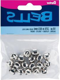 """Jingle Bells .375"""" 18/Pkg-Silver"""