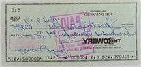 Joe Dimaggio Signed  Bank Check # 628 JSA Auction House LOA