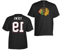 Reebok Men's Jonathan Toews Chicago Blackhawks Player T-