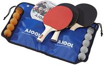 JOOLA Family Table Tennis Set with 4 Spirit Rackets and 10